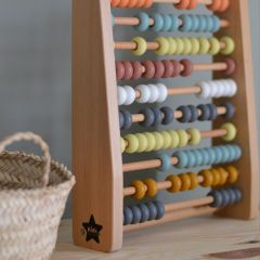 Wooden abacus multicoloured Kid's Concept