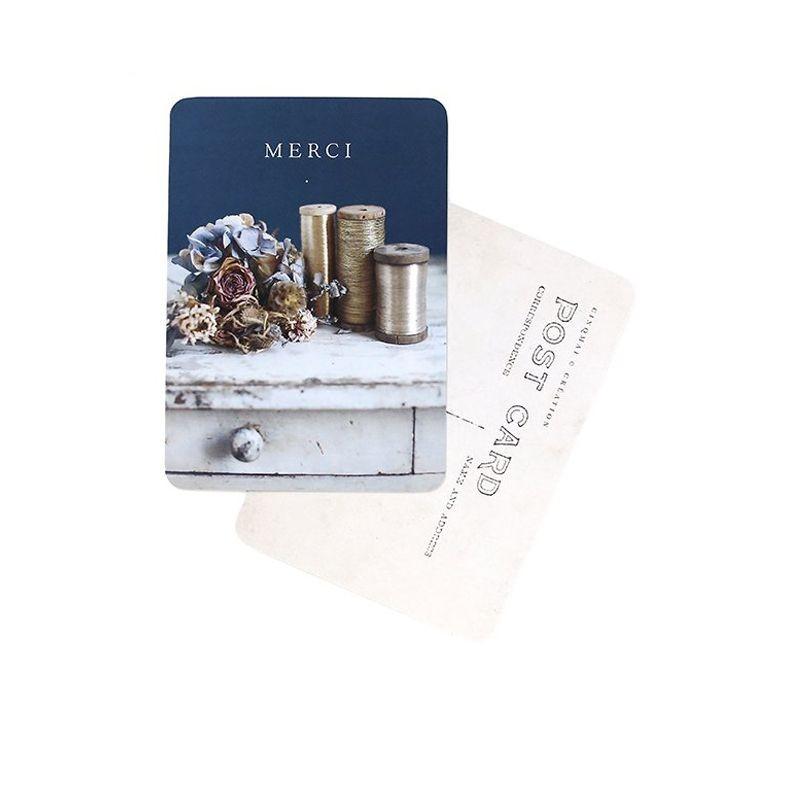 """Carte postale """"Merci"""" Cinq Mai"""