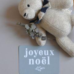 "Post Card ""Joyeux Noël"" bleu stone Cinq Mai"
