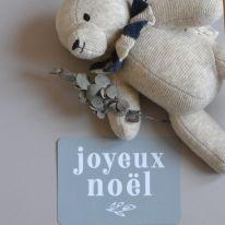"Carte postale ""Joyeux Noël"" bleu stone Cinq Mai"
