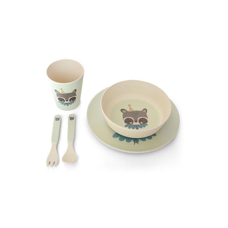 Set de vaisselle cirque raccoon Eef Lillemor