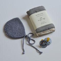 Knitting beguin grey  Le béguin pour toi