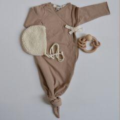Knitting beguin cream Le béguin pour toi