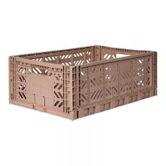 Folding crate maxi warm taupe Aykasa