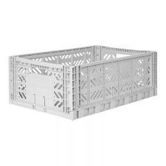 Folding crate maxi light grey Aykasa