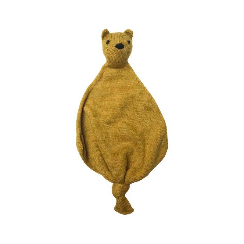 Doudou en laine Teddy tokki curry Hvid