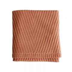 Wool Blanket Akira brick Hvid