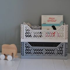 Folding crate midi  grey Aykasa
