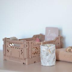 Folding crate mini warm taupe Aykasa