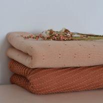 Couverture en laine Akira brick Hvid