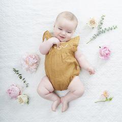 Jumpsuit linen mustard My Little Cozmo