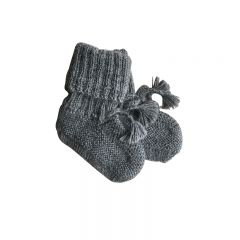 Ribbed angel boots grey