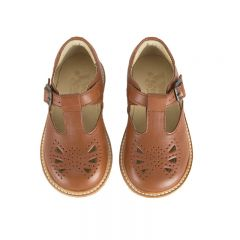 Babies Rosie T-bar chestnut brown Young soles