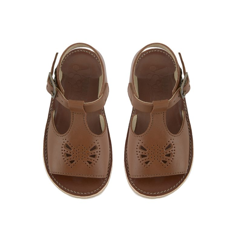 aeb9a7fc1a4b Sandales Belle Chestnut Young Soles - Yellow Flamingo