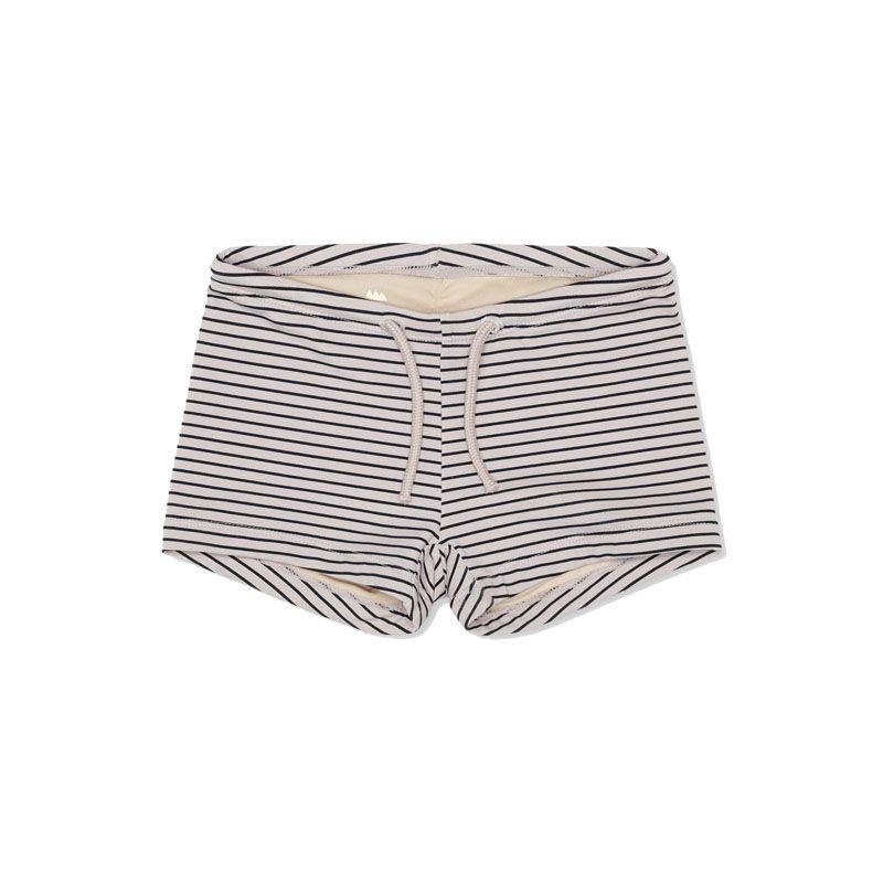 f9a7470e46b Short de bain anti UV rayé Konges Slojd - Yellow Flamingo