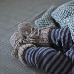 Ribbed angel boots grey My alpaca