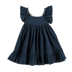 Pinafore dress antra blue Liilu