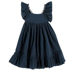Pinafore dress antra blue mum