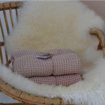 Couverture gaufrée rose Mallino