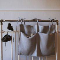 Pochette de rangement en lin grey Mallino