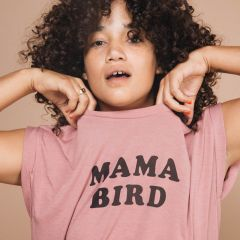 T-shirt Mama Bird vieux rose The Bee and the Fox