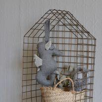Mobile musical hippocampe gris Bonet et Bonet