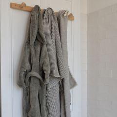 Peignoir de bain éponge gris Konges Slojd