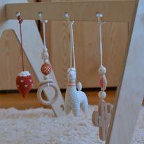 Suspension crochet et bois cactus Lana crocheting