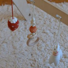 Suspension crochet et bois Lana crocheting