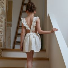 Pinafore skirt off white Liilu