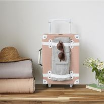 Petite valise à roulettes rose Olli Ella