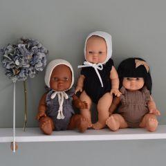 Béguin rond blanc pour poupée Minikane