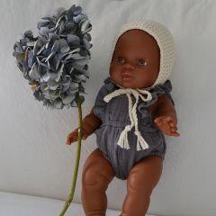 Barboteuse Grise pour poupée Minikane