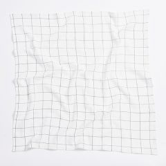 Organic cotton check swaddle Bim Bla