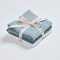 Pack of 3 muslin cloths green Bim Bla