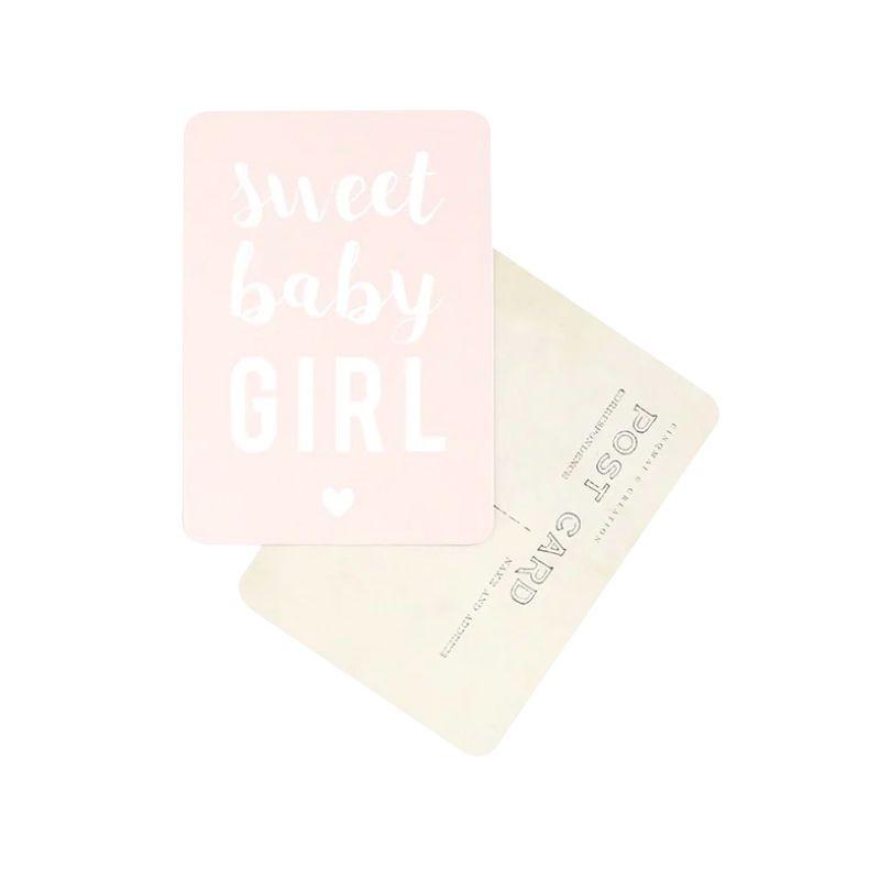 "Carte postale ""sweet baby girl"" nude Cinq Mai"