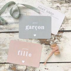 "Postcard  ""petit garcon"" Cinq Mai"