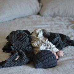 Couverture gaufrée graphite Mallino