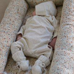 New born onesie caramel mini dots  Konges Slojd