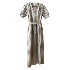 Stripe wrap dress women Rylee and Cru