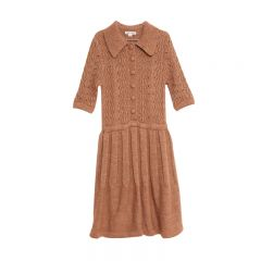Shells knitted dress camel Woman Fish and Kids