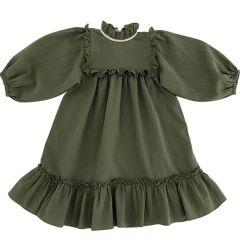 Robe Liana olive Femme Liilu