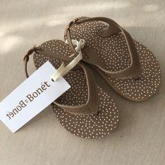 Flip flops tabacco dots Bonet et Bonet