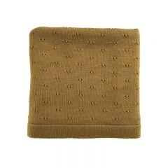 Wool Blanket Bibi mustard Hvid
