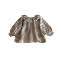 Oana Blouse check Liilu