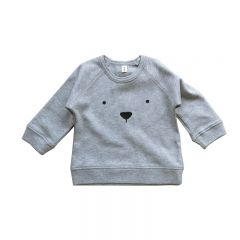Sweat ours gris Organic Zoo