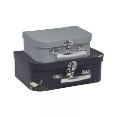 Pack de 2 valises siamois mille marin Konges Slojd