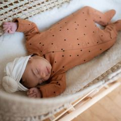 Day+night babysuit crazy dots nut Bonjour Little