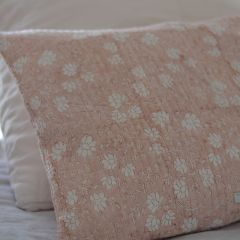 Housse de coussin fleurie rose Inspirations by La Girafe