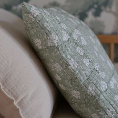 Green flower cushion cover Inspirations by La Girafe